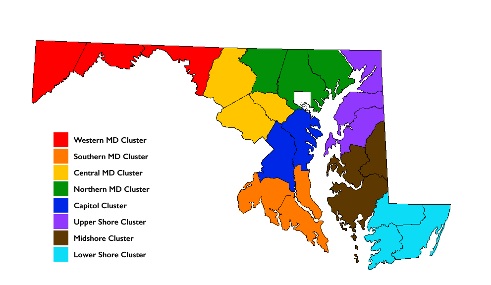 Maryland Beef Regions Map